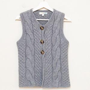 Boden Gray Wool Sweater Vest US 8